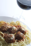 Meatballs and spaghetti Royalty Free Stock Image