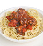 Meatballs with Spaghetti Stock Photography