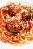 Meatballs with spaghetti pasta Royalty Free Stock Photos