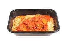 Meatballs and spaghetti Stock Photography