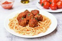 Meatballs and spaghetti Royalty Free Stock Photos