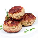 Meatballs. Stacked and close up royalty free stock image