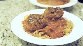 meatballs with steam stock video