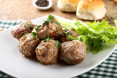 Meatballs stewed with vegetables Royalty Free Stock Image