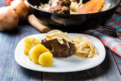 Meatballs stuffed with onion Royalty Free Stock Photos