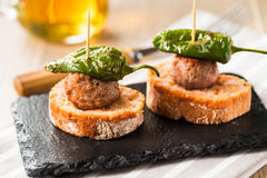 Meatballs tapas Royalty Free Stock Images