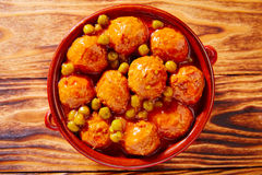 Meatballs tapas meatloaf albondiga recipe Royalty Free Stock Photography