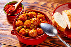 Meatballs tapas meatloaf albondiga recipe Royalty Free Stock Images