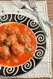 Meatballs in tomato sauce Royalty Free Stock Photos