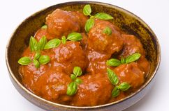 Meatballs in tomato sauce Stock Images