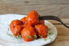Meatballs in tomato sauce Royalty Free Stock Photo
