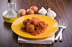 Meatballs with tomato sauce. Royalty Free Stock Image