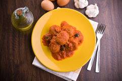 Meatballs with tomato sauce. Royalty Free Stock Photos
