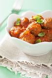 Meatballs with tomato sauce in bowl Royalty Free Stock Images