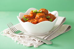 Meatballs with tomato sauce in bowl Royalty Free Stock Photo