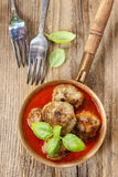 Meatballs in tomato sauce Stock Photo