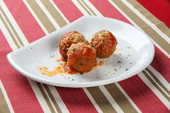 Meatballs with tomato sauce Royalty Free Stock Photography