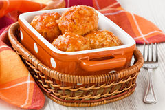 Meatballs with tomato sauce Royalty Free Stock Images