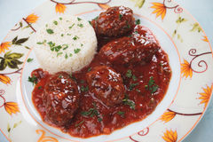 Meatballs in tomato sauce Royalty Free Stock Image
