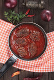 Meatballs in tomato sauce Stock Photography
