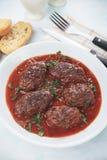 Meatballs in tomato sauce. Kofta, oriental meatballs served in tomato sauce Stock Images