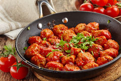 Meatballs with tomato sauce Royalty Free Stock Photos