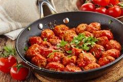 Meatballs with tomato sauce Royalty Free Stock Photos
