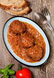Meatballs in tomato sauce Royalty Free Stock Images