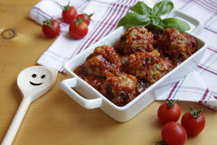 Meatballs with tomato sauce. Meatballs in spicy and flavoured tomato sauce Royalty Free Stock Photography