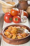 Meatballs with tomato sauce Stock Images