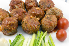 Meatballs with tomato sauce Stock Photography