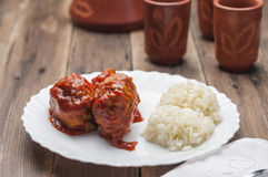 Meatballs with tomato series 05 Stock Images