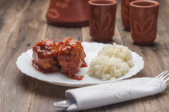 Meatballs with tomato series 03 Royalty Free Stock Photography