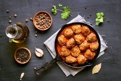 Meatballs, top view Stock Photo