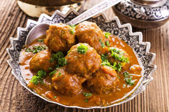 Meatballs in a traditional bowl Stock Photo