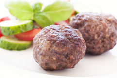 Meatballs with Vegetable Stock Image
