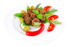Meatballs and vegetables Stock Photo