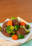 Meatballs with vegetables Stock Image