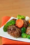 Meatballs with vegetables Royalty Free Stock Photos