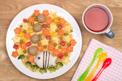 Meatballs with vegetables and rice Stock Images