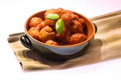 Meatballs on white background Royalty Free Stock Image