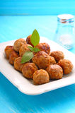 Meatballs on a white plate Stock Photos