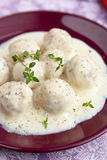 Meatballs in white sauce Royalty Free Stock Images