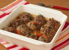 Meatballs With Begetables Stock Photo