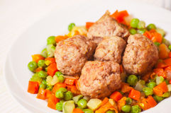 Meatballs With Vegetables Royalty Free Stock Image