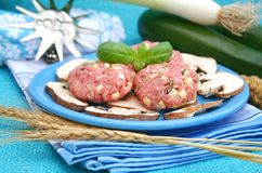 Meatballs with zucchini Royalty Free Stock Photography