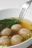 meatballsoup Arkivbild