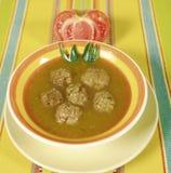 meatballsoup Royaltyfri Bild