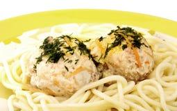 meatballsspagetti Arkivfoto