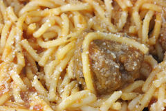 meatballsspagetti Arkivbild